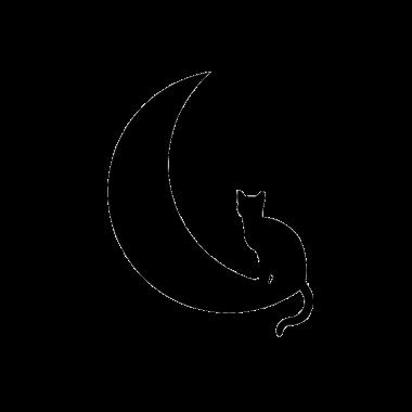Pegatina decorativa gato en luna