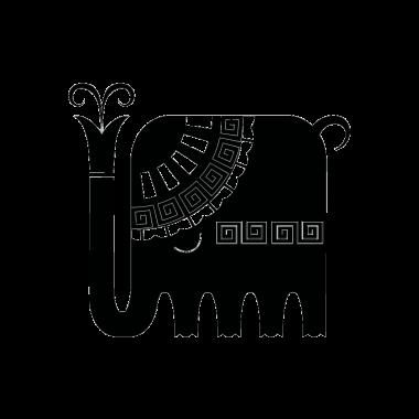 Vinilo elefante étnico