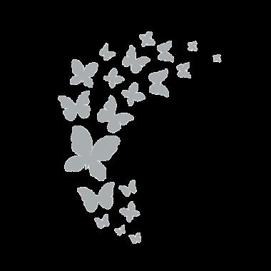 Vinilo mariposas translúcido a medida