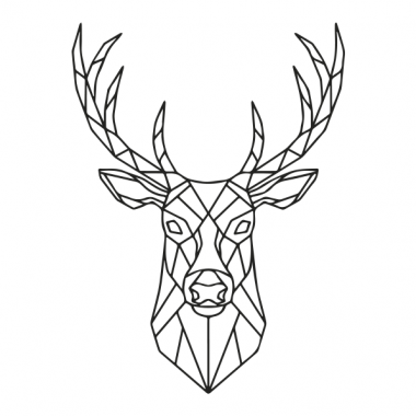 Vinilo cabeza ciervo