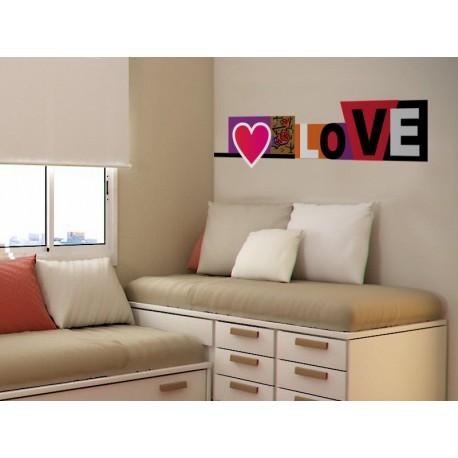 Love Pared decoración con vinilo