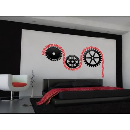 pegatina decorativa Máquina del Amor para Cabecero