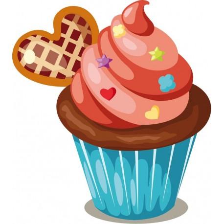 pegatina decorativa Muffin Pegatina