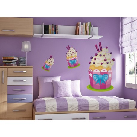 pegatina pared Muffin Pegatina III