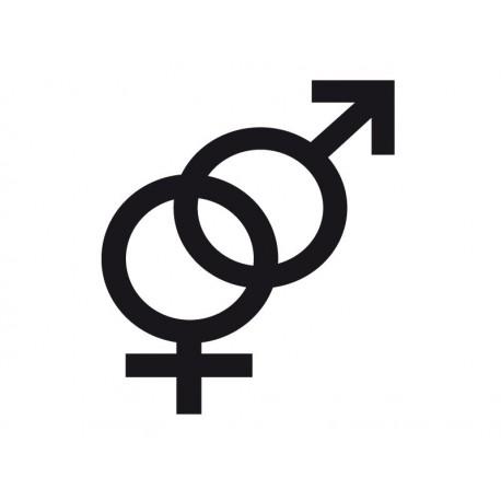 Símbolo Hombre y Mujer imagen vinilo decorativo