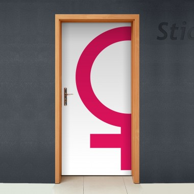 Símbolo Mujer adhesivo decorativo ambiente