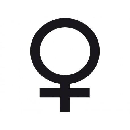 Símbolo Mujer decoración con vinilo
