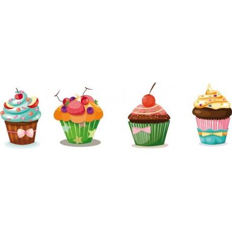 vinilo decorativo Muffin Pegatina Composición