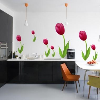 Tulipan Fucsia Pegatina imagen vista previa