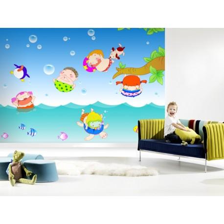 Fotomural Diver Baño adhesivo decorativo ambiente