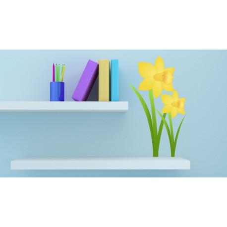Lirio Amarillo adhesivo decorativo ambiente