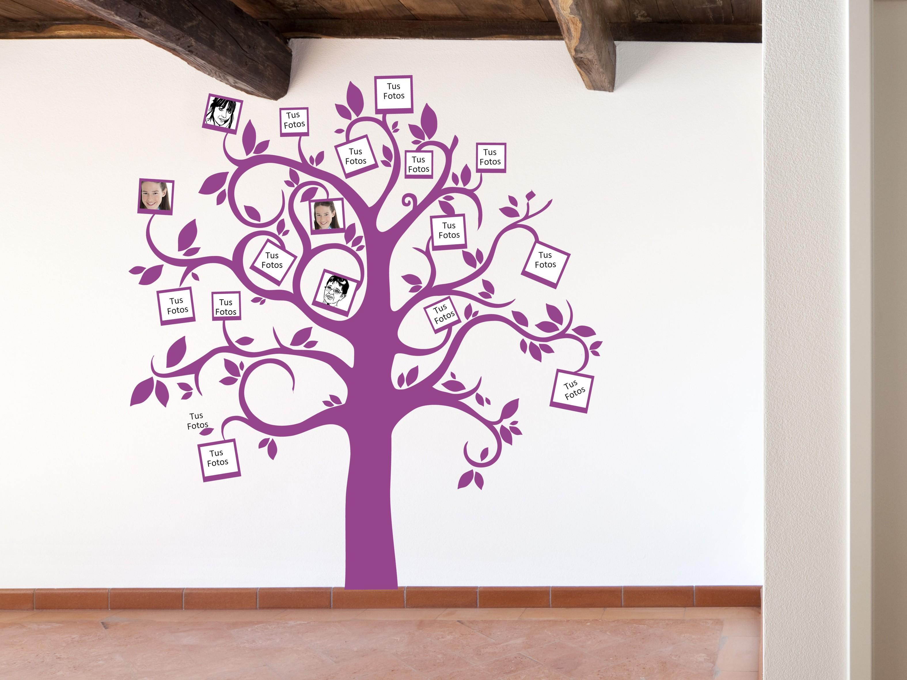 pegatina decorativa arbol mis fotos