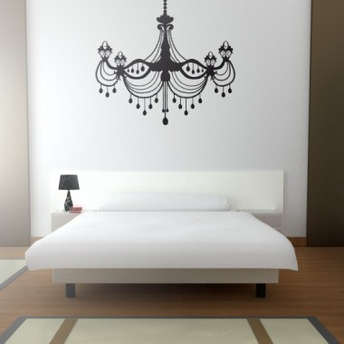 Lámpara Araña Belle Epoque adhesivo decorativo ambiente