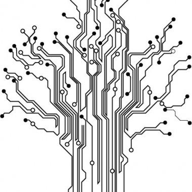 Arbol Microchip para Cabecero decoración con vinilo
