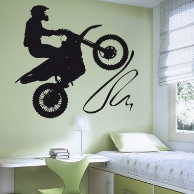 Moto Cross imagen vinilo decorativo