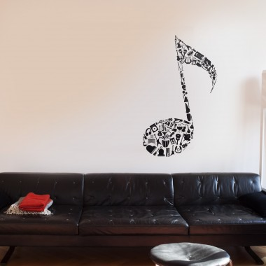 pegatina decorativa Nota Con Instrumentos
