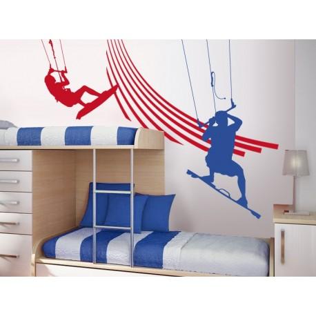 pegatina decorativa Kite Surfing Composición