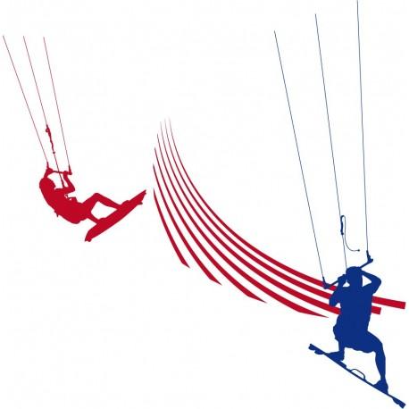 vinilos imagen producto Kite Surfing Composición