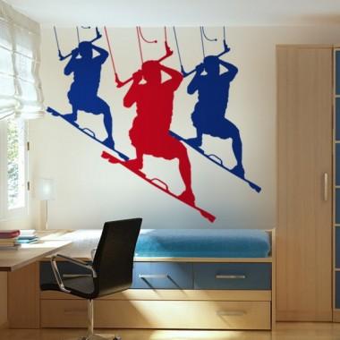 Kite Surfing Motivo I imagen vinilo decorativo