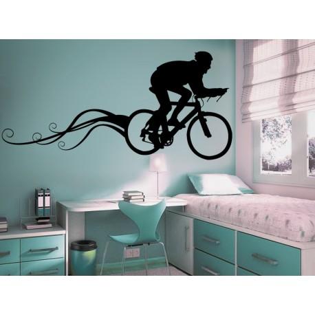 Ciclismo imagen vinilo decorativo