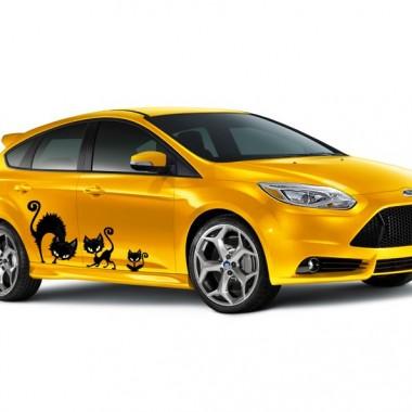 adhesivo decorativo Miau Decoración Vehículo