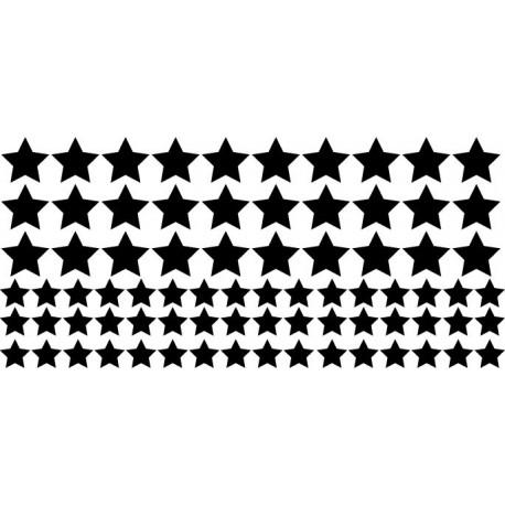 Estrellas Decoración Vehículo adhesivo decorativo ambiente