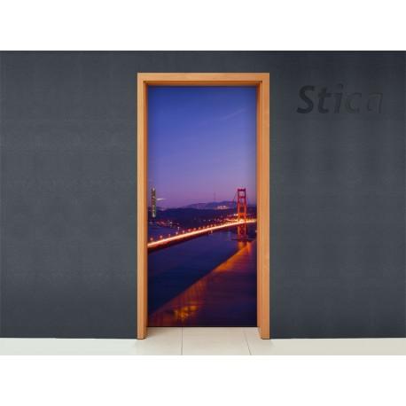 Golden Gate para Puerta decoración con vinilo