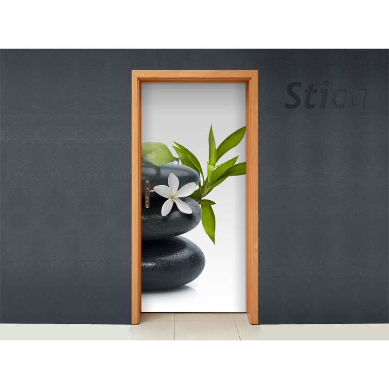 Vinilo piedras zen para puerta for Vinilos decorativos puertas