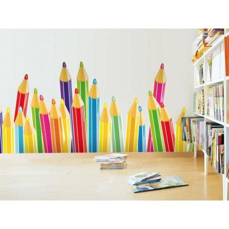 Lapices de Colores imagen vinilo decorativo
