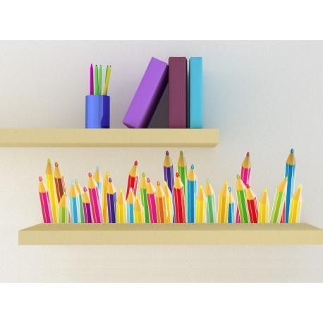 Lapices de Colores decoración con vinilo