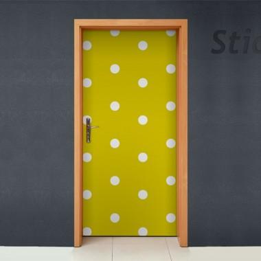 vinilos imagen producto Topos Amarillos para Puerta