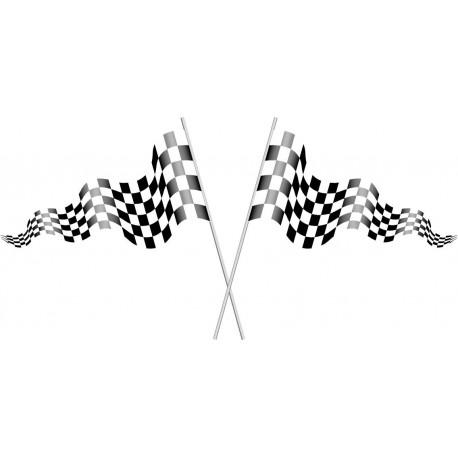 adhesivo decorativo Banderas de Carreras