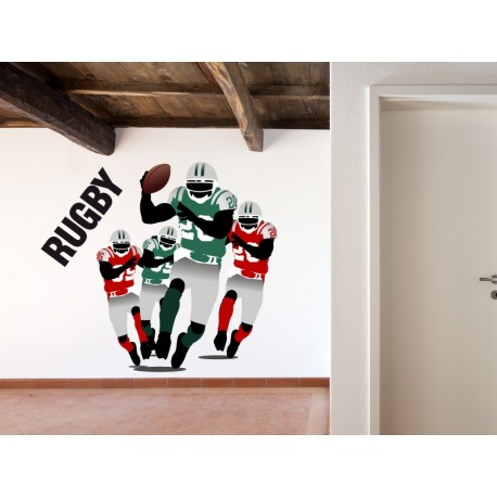 pegatina pared Rugby Color