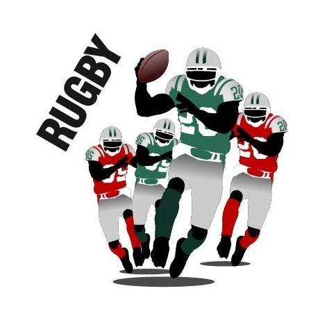 Rugby Color imagen vinilo decorativo