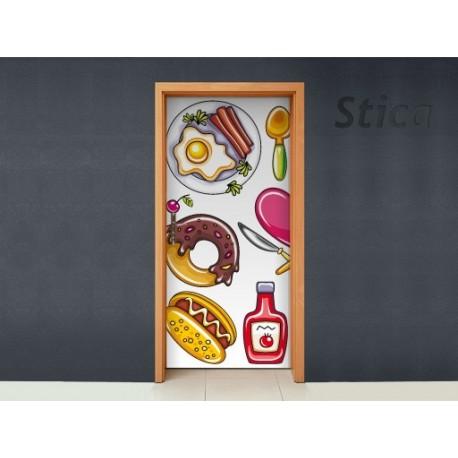 vinilo decorativo Puerta Alimentos II