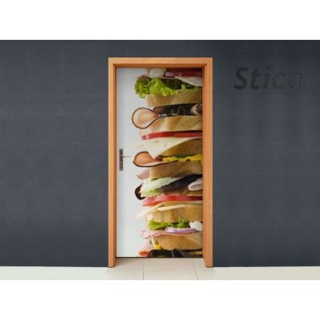 pegatina decorativa Puerta Mega Sandwich