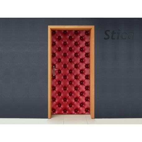 pegatina pared Tapizado Rojo Puerta