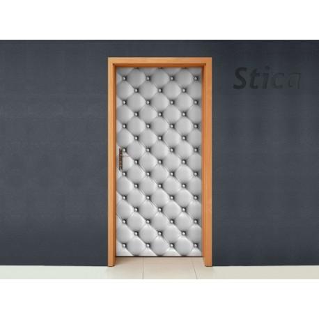 Tapizado Blanco Puerta imagen vinilo decorativo
