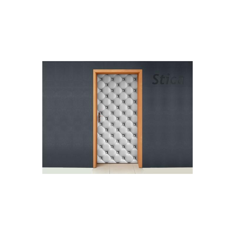Vinilo tapizado blanco puerta for Vinilos decorativos blancos
