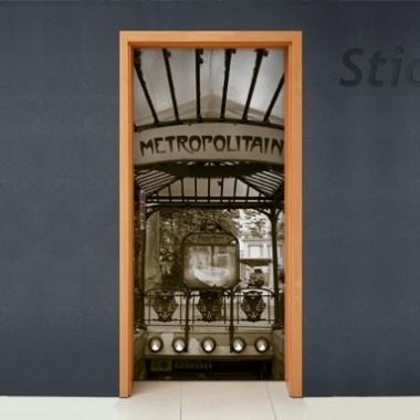 Vinilo Paris metro puerta -vinilos-decorativos
