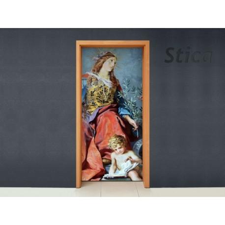 Vinilo Clásico roma puerta-vinilos-decorativos