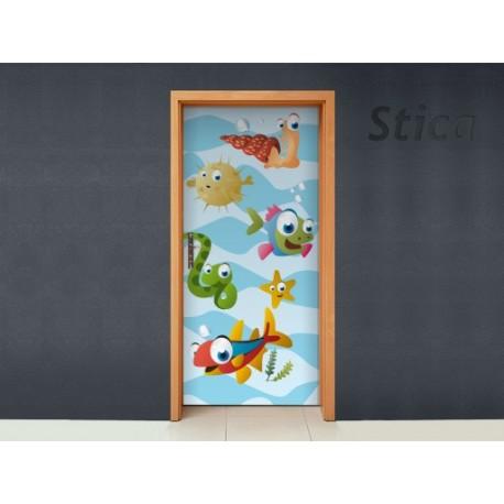 Vinilo Bajo el mar puerta -vinilos-decorativos