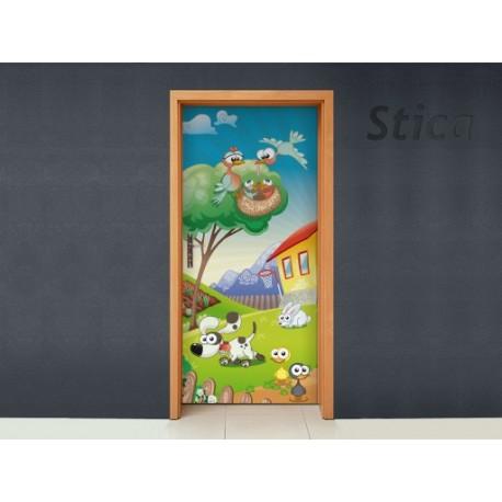 Vinilo Granja ii puerta -vinilos-decorativos