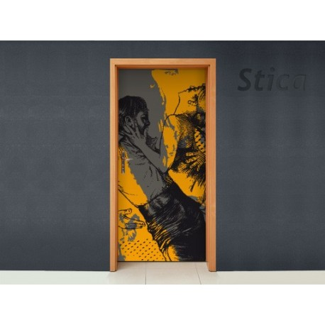 Vinilo Sexi girl puerta -vinilos-decorativos