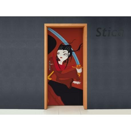 Vinilo Katana pasión puerta -vinilos-decorativos