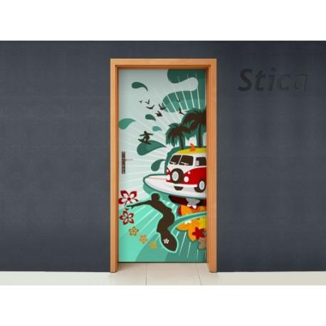 Vinilo Hawai puerta -vinilos-decorativos