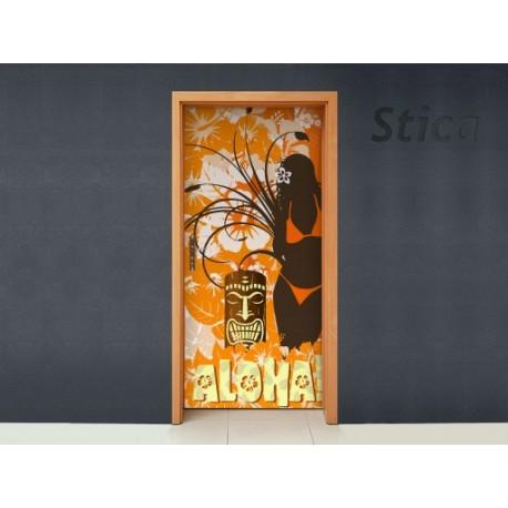 Vinilo Aloha puerta -vinilos-decorativos