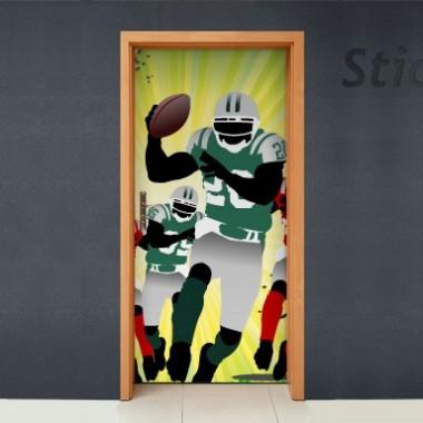 Vinilo Futbol americano puerta -vinilos-decorativos