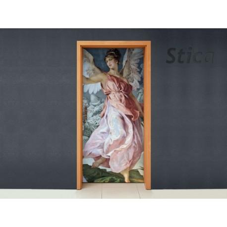 Vinilo Clásico angel puerta-vinilos-decorativos