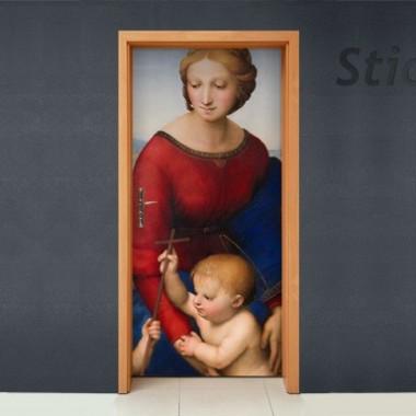 Vinilo Virgen puerta-vinilos-decorativos